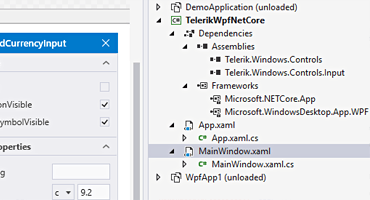 Telerik UI for WPF - .NET Core Design Time Support