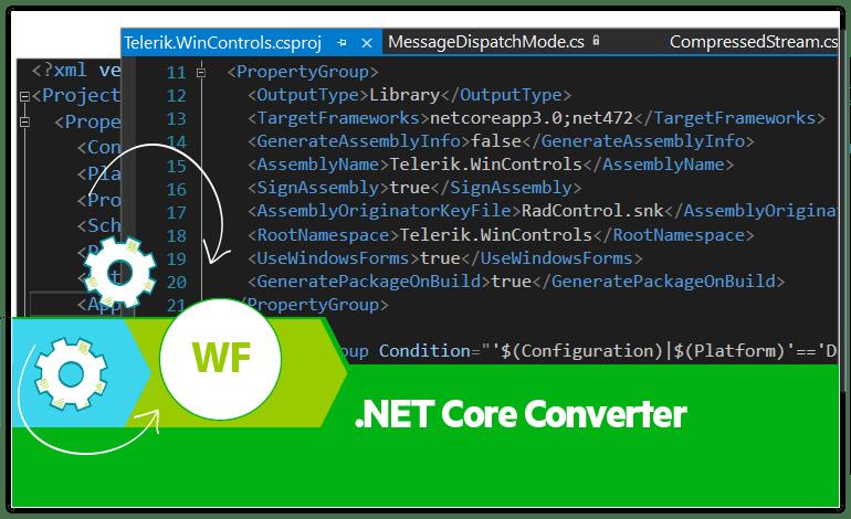 Telerik UI for WInForms- .NET Core Converter