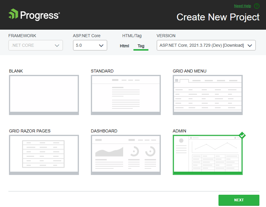 New Telerik UI for ASP.NET Core Demo Application with Razor Pages