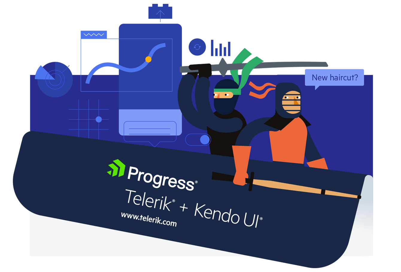The Telerik Ninja and Kendo UI Kendoka