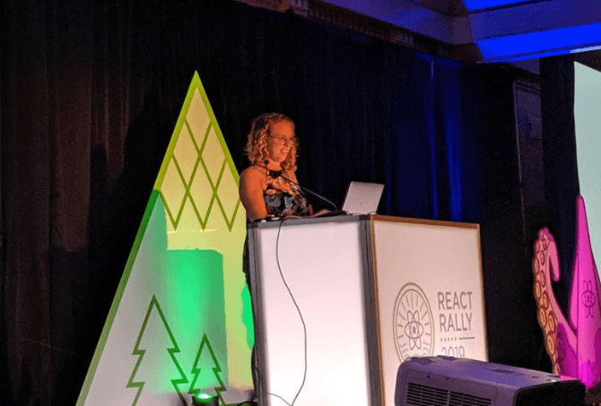 Nicole Sullivan at React Rally 2019