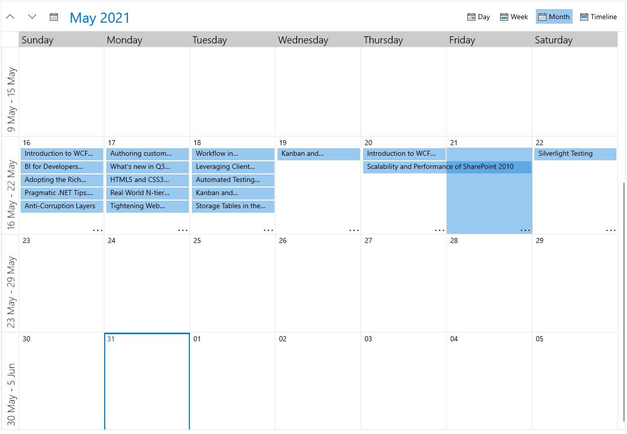 RadScheduler Overview