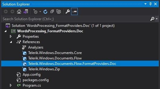 Packages_NetFramework_nuget - Telerik.Windows.Documents.Flow.FormatProviders.Doc