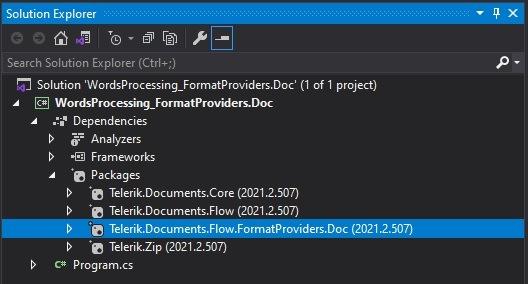 Packages_NetStandard_nuget - Telerik.Documents.Flow.FormatProviders.Doc
