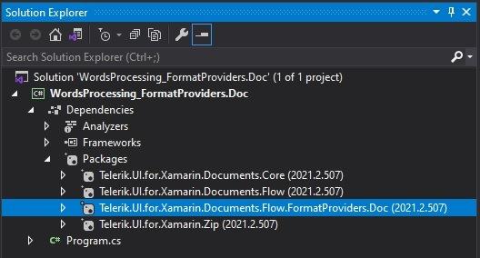 Packages_NetStandard_Xamarin_nuget - Telerik.UI.for.Xamarin.Documents.Flow.FormatProviders.Doc