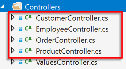 Web A P I Controllers