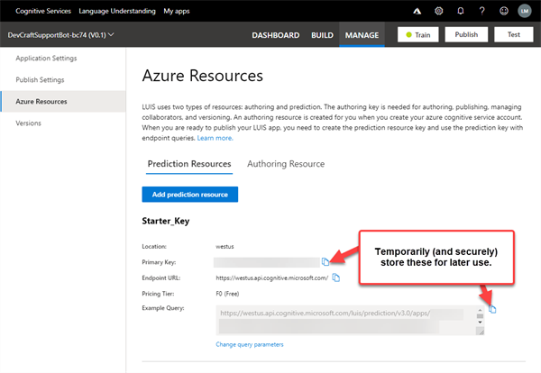 Azure Resources tab