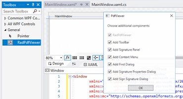 Telerik UI for WPF - PDFViewer Toolbars Small Image
