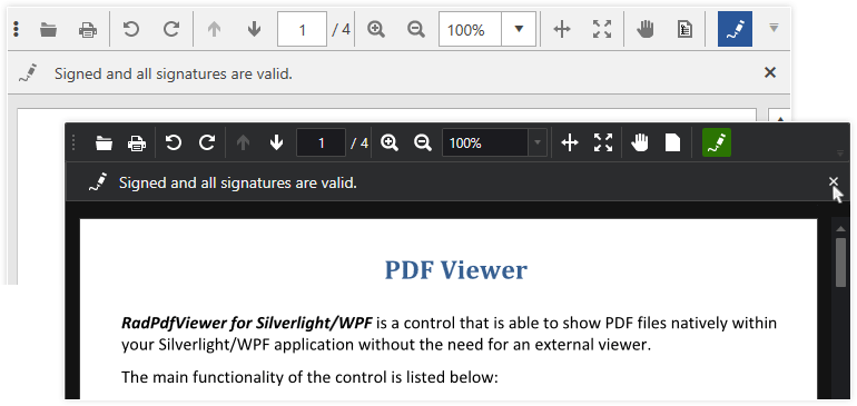 Telerik UI for WPF PDFViewer Digital Signature Support Image