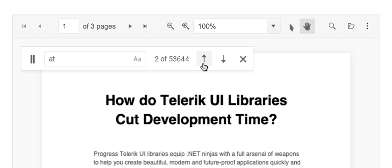 Telerik UI for ASP.NET Core PDF Viewer