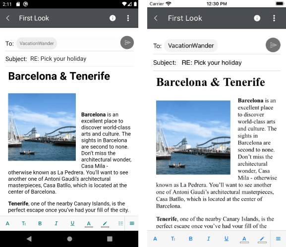 RichTextEditor for Xamarin