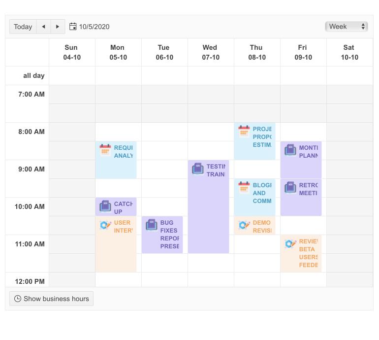 Telerik UI for Blazor Scheduler - DateHeader Template