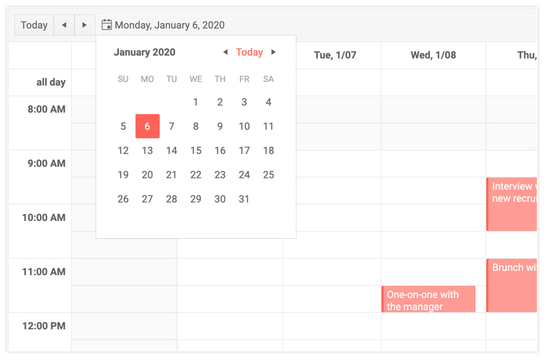 Scheduler component for Telerik UI for Blazor