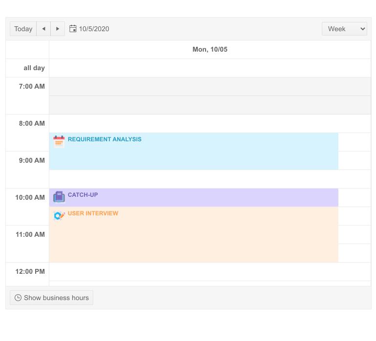 Telerik UI for Blazor Scheduler Appointment Templates
