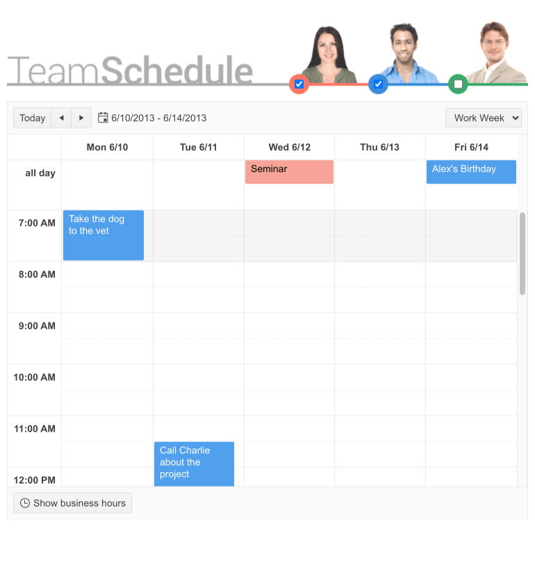 Telerik UI for PHP Scheduler Display 24h Events as Normal Events