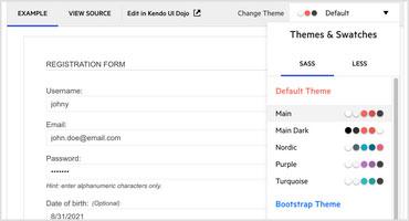 Telerik UI for PHP Theming Enhancement