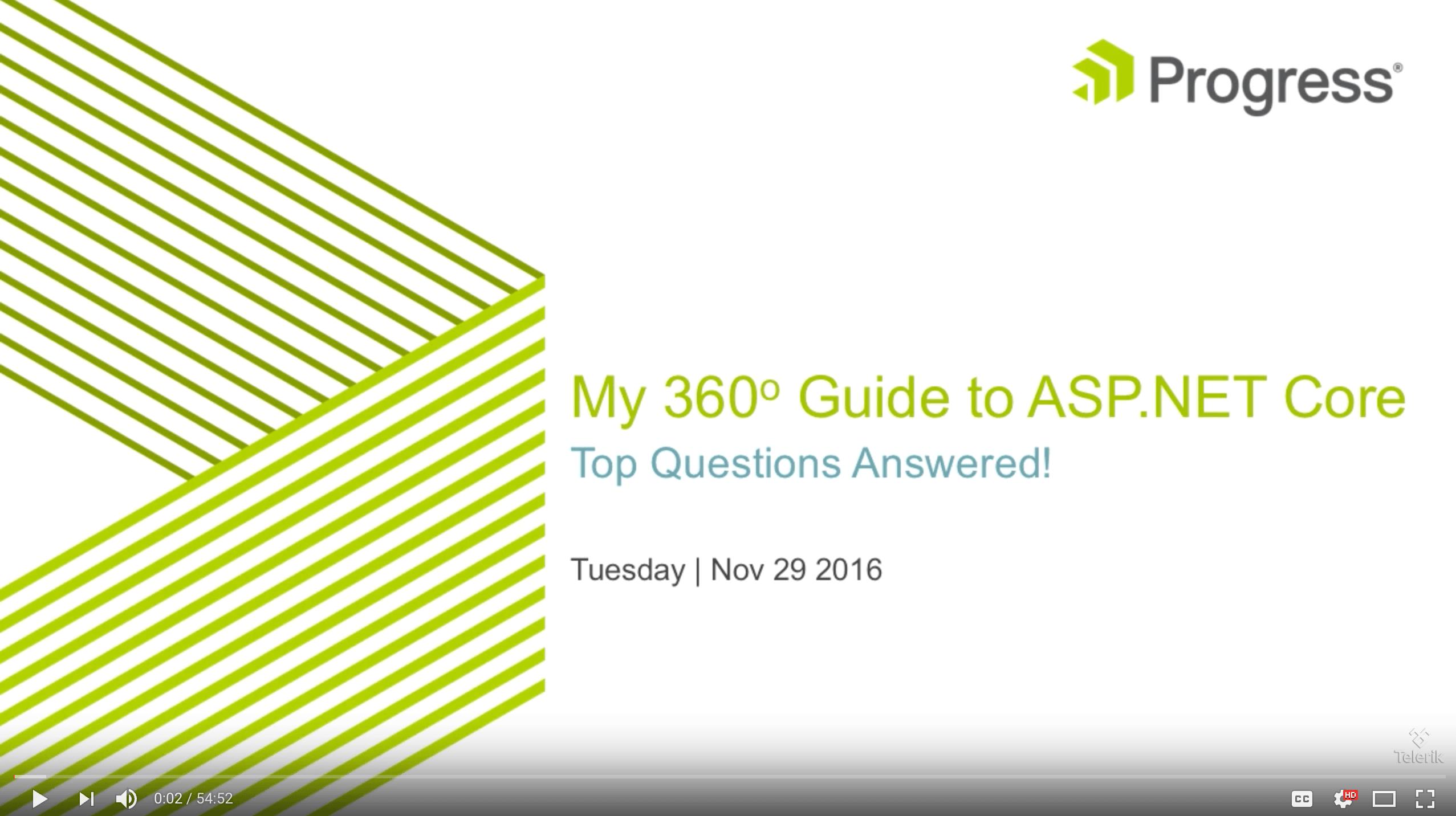 ASP.NET Core Webinar Recording
