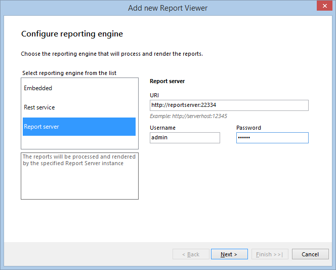 report viewer item template
