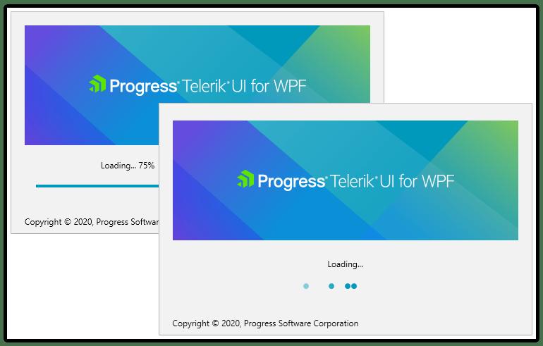 Telerik UI for WPF Splash Screen - Built-in progress bar