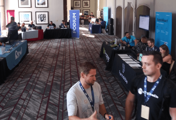 Sponsor Hall at React Rally 2019