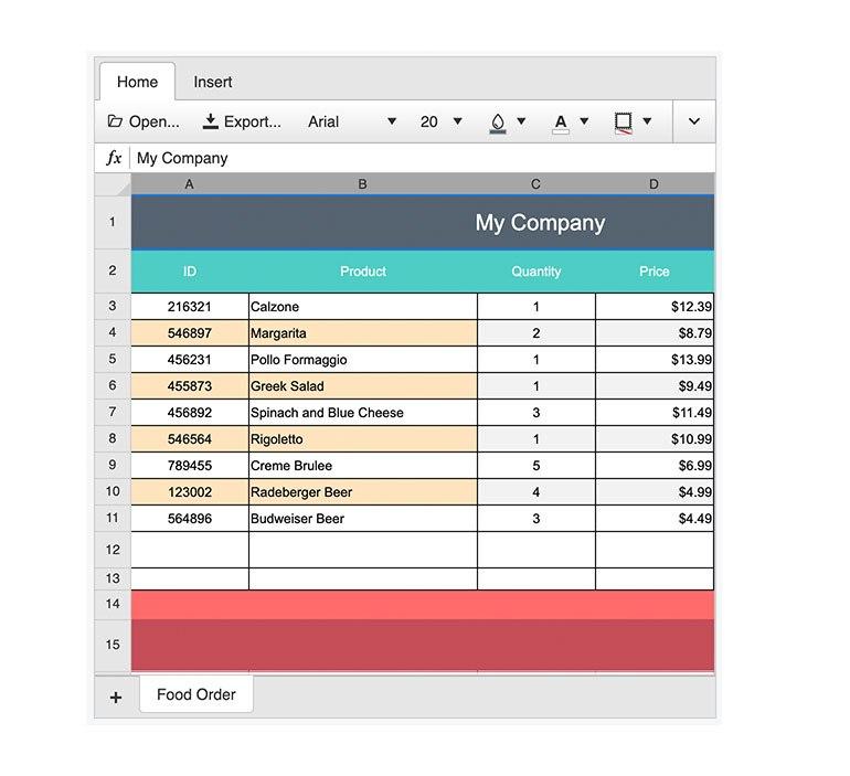 Telerik UI for ASP.NET AJAX – Spreadsheet Enhancements