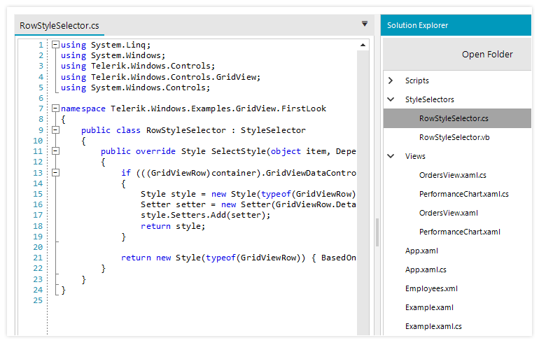 Telerik UI for WinForms Syntax Editor control - Syntax highlighting