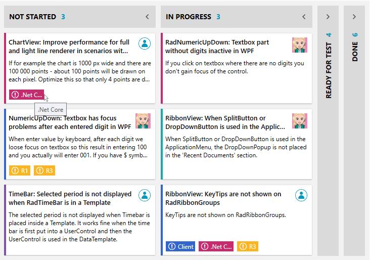 TaskBoard Cards