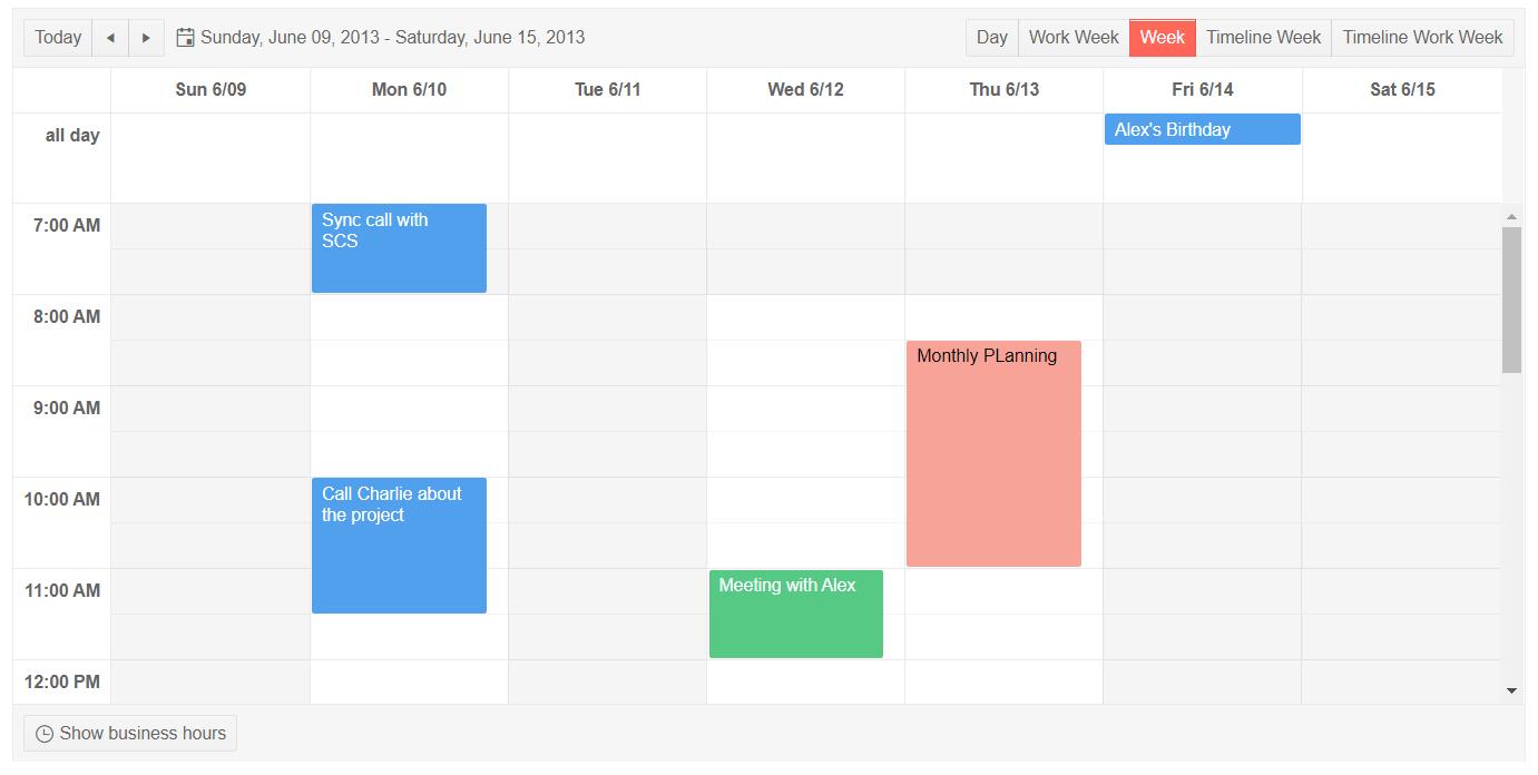 Telerik UI for ASP.NET Core Non-Working Days