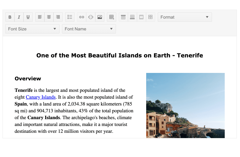 Telerik UI for Blazor Editor Component