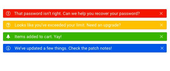 Telerik UI for Blazor Preview of Notification Component