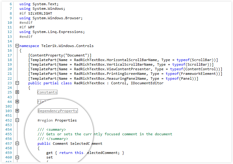 Telerik UI for WPF SyntaxEditor - Highlighting