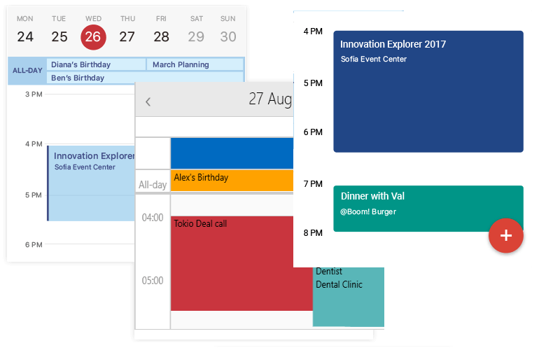 Telerik UI for Xamarin Calendar - Day View