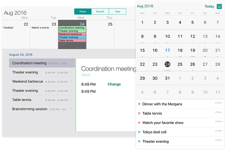 Telerik UI for Xamarin Calendar Views Appointments
