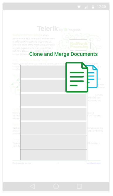 Telerik UI for MVC WordsProcessing - Clone and Merge Documents