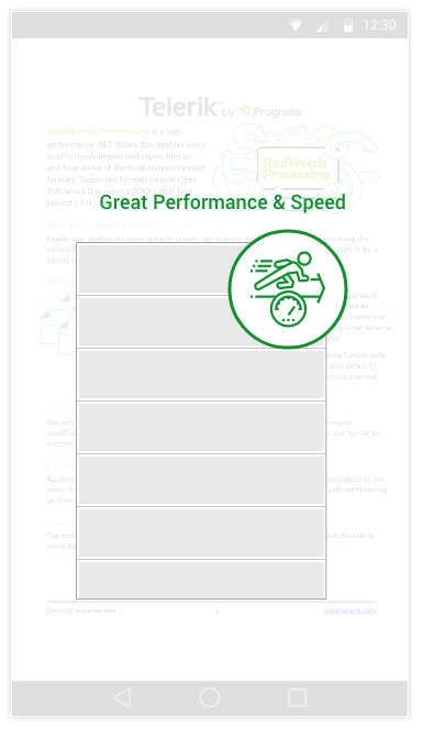Telerik UI for MVC WordsProcessing - Great Performance