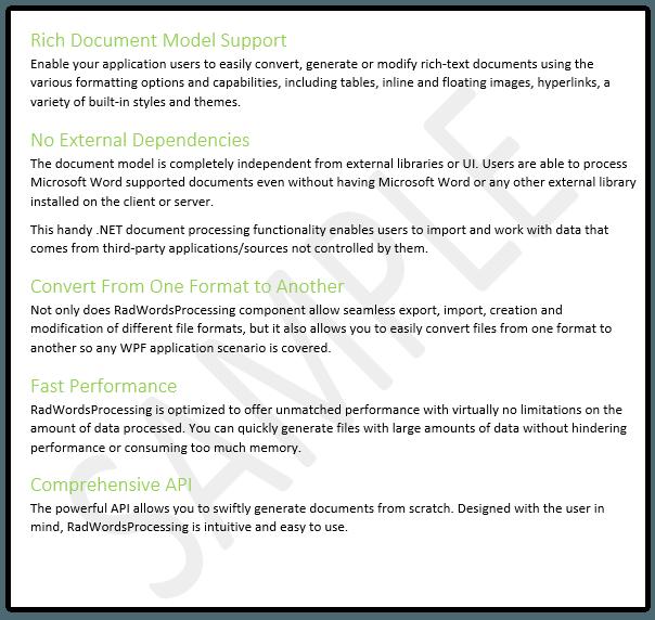 Telerik UI for ASP.NET MVC WordsProcessing - Watermark