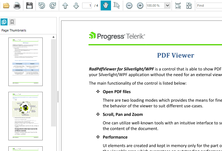 PDFViewer Control - Telerik UI for WinForms Components - Telerik