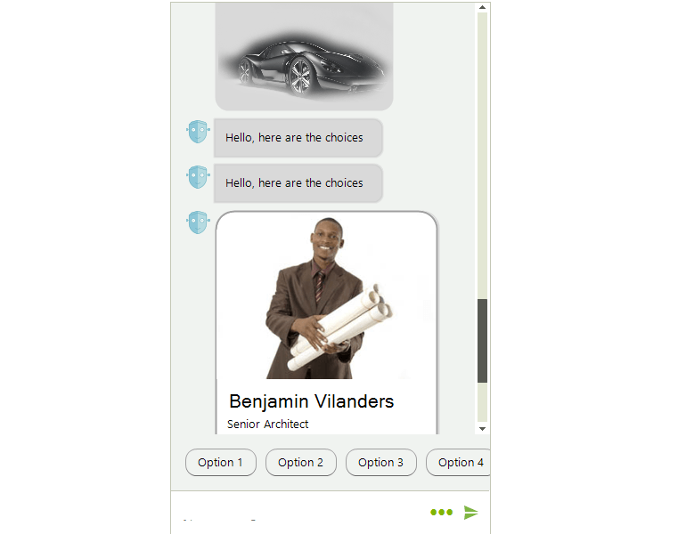 Telerik UI for WinForms - Chat UI - Chat Items Image