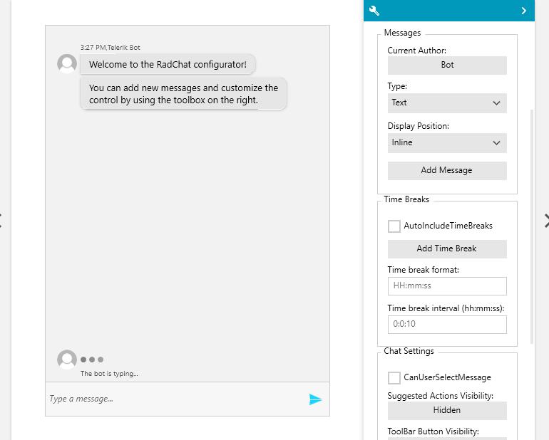 Telerik UI for WPF - Conversational UI - Configurator Image