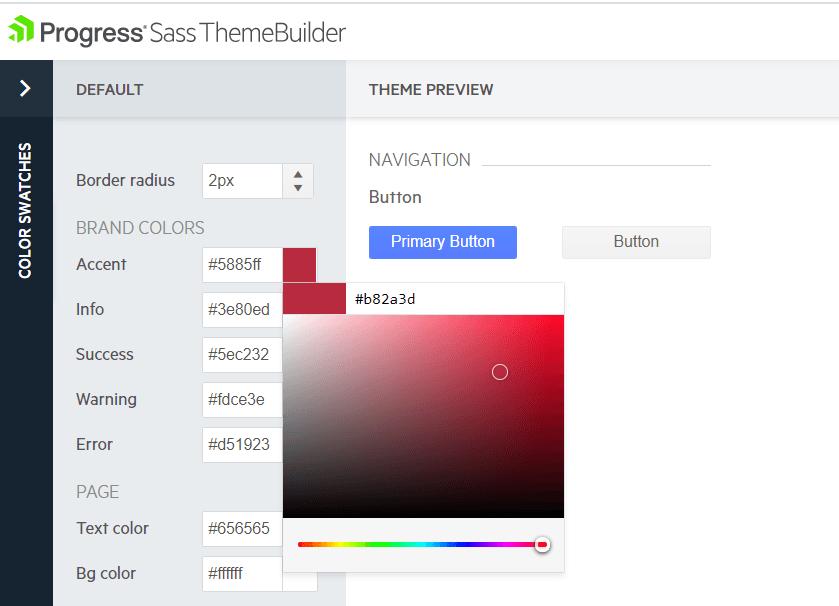 Telerik ThemeBuilder Style UI Components