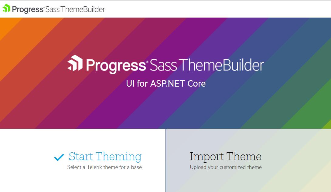 Telerik ASP.NET Core ThemeBuilder