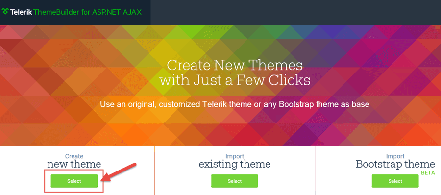 ThemeBuilder - Create New Theme