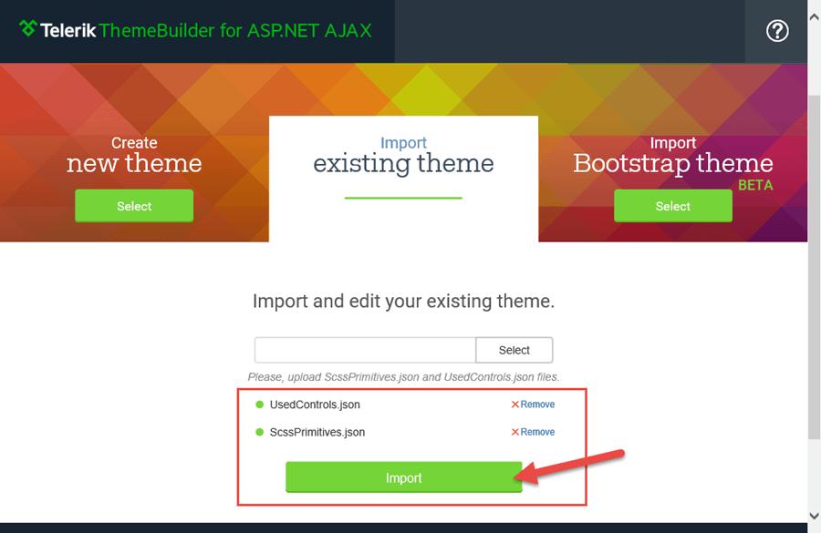 ThemeBuilder - Existing Theme Files