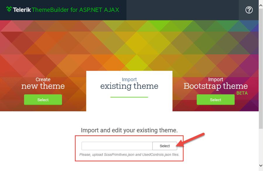 ThemeBuilder - Import a Theme
