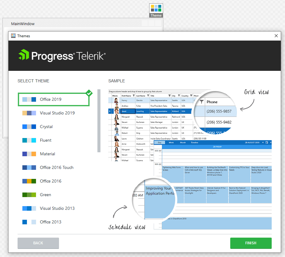 Progress WPF Theme Wizard