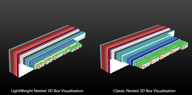Toolbar 3D Lightweight vs Classic Rendering