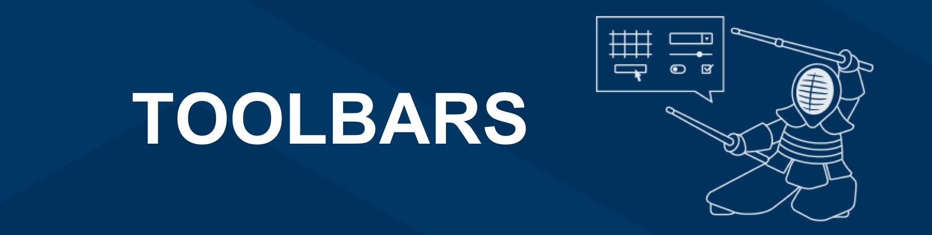 Kendo UI Toolbars