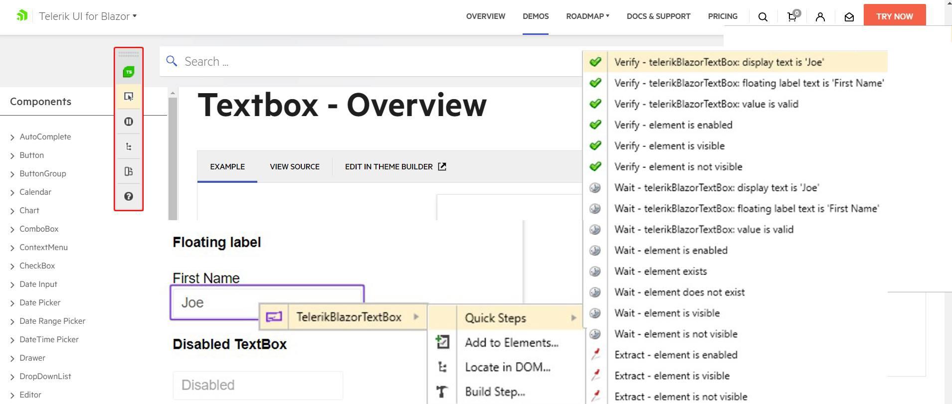 Translator for Telerik UI for Blazor TextBox