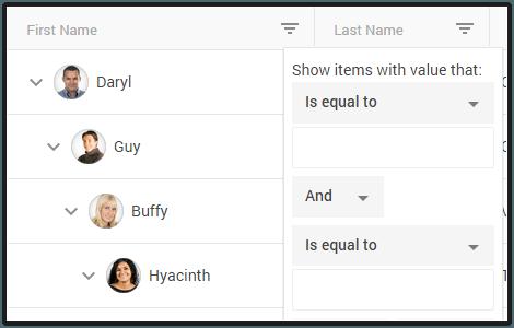 Telerik Kendo UI TreeList Widget | jQuery-Based TreeList Widget