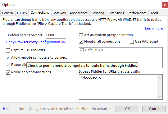 How to: Capture Android Traffic with Fiddler